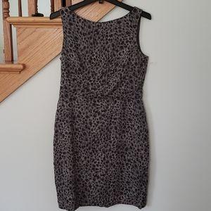 Ann Taylor Leopard Print Dress Women's